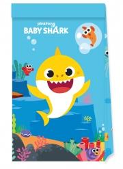 4 Petits sacs de fête en papier FSC® Baby Shark™