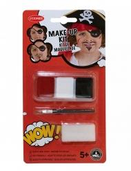 Kit maquillage pirate avec pinceau et éponge enfant