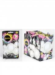 5 Ballons LED argentés Illooms®