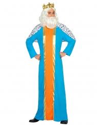 Déguisement roi mage bleu adulte