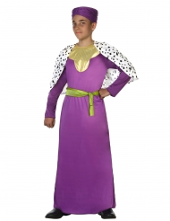 Déguisement roi mage violet enfant