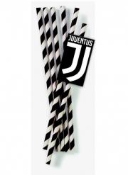 12 Pailles Juventus™ en carton 19,5 cm