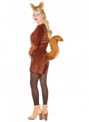 Déguisement écureuil marron femme