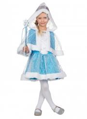Déguisement princesse des neiges bleue fille