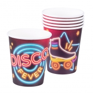 6 Gobelets en carton Disco Fever 25 cl