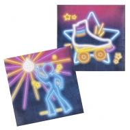 12 Serviettes en papier Disco Fever 33 x 33 cm