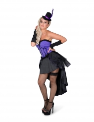 Déguisement burlesque violet femme