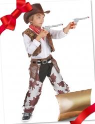 Coffret cadeau déguisement cowboy avec accessoire enfant