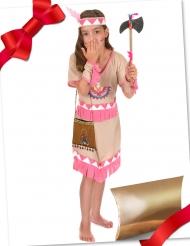 Coffret cadeau déguisement indienne rose avec accessoires fille