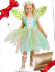 Coffret cadeau déguisement fée verte avec accessoires fille