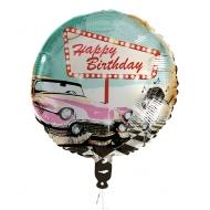 Ballon aluminium Happy Birthday Rock