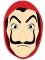 Masque en carton braqueur animé adulte