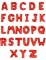 Ballon aluminium lettre rouge 1 m-1