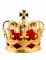 Pince à cheveux mini couronne royale dorée