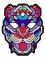 Masque léopard à LED réactives adulte