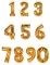 Ballon aluminium chiffre doré 134 cm