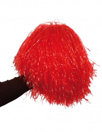 Pompon rouge métallique