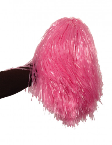 Pompon rose métallique