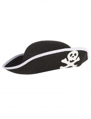 Chapeau pirate crâne enfant-1