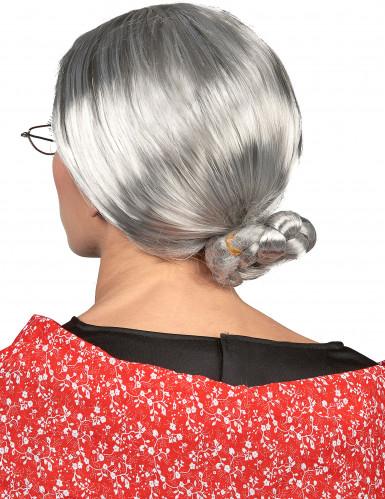 Perruque à chignon Grand-mère femme-1