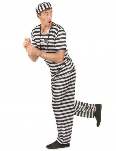 Déguisement prisonnier noir et blanc homme-1