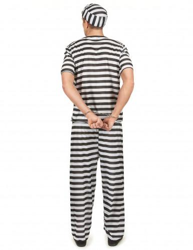 Déguisement prisonnier noir et blanc homme-2