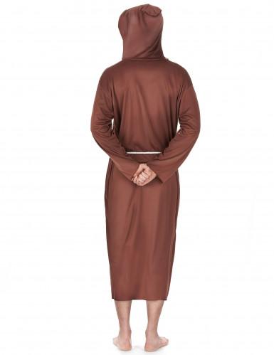 Déguisement moine marron clair homme-1