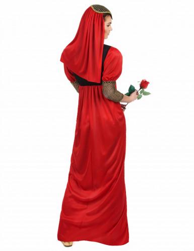 Déguisement médiéval rouge femme-2