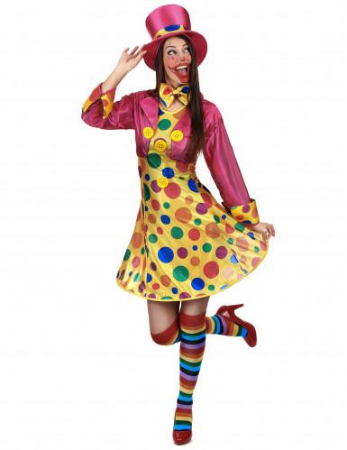 Déguisement clown amusant femme