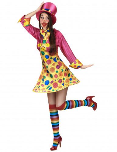 Déguisement clown amusant femme-1
