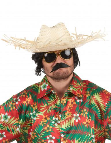 Chapeau de paille tressée Hawaï adulte-1