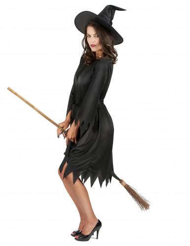 Déguisement noir sorcière femme Halloween-1