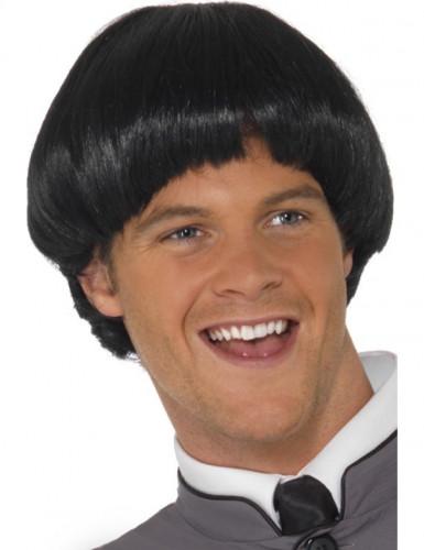 Perruque courte cheveux noirs homme