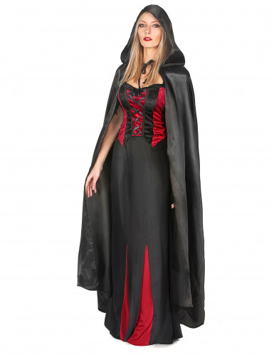 Cape vampire noire adulte Halloween-1