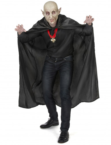 Cape vampire noire adulte Halloween-4