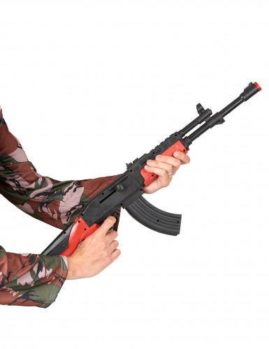 Kalachnikov de soldat en plastique adulte-1