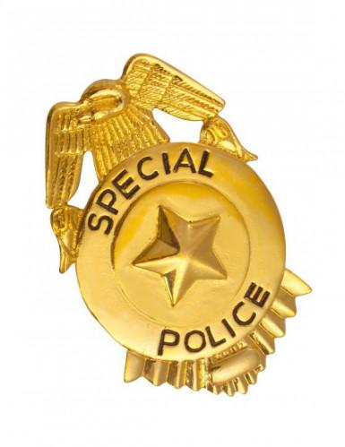 Badge de police or