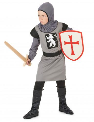 Déguisement chevalier médiéval gris garçon-1