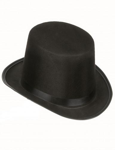 Chapeau haut de forme noir rétro adulte