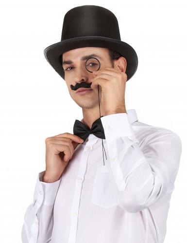 Chapeau haut de forme noir rétro adulte-1
