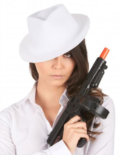 Chapeau de gangster blanc adulte-1