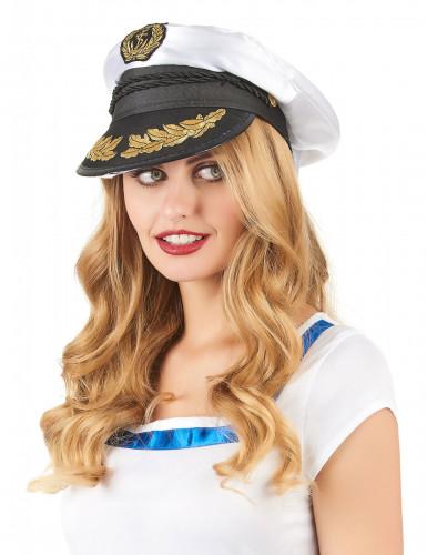 Chapeau de capitaine marin adulte-1
