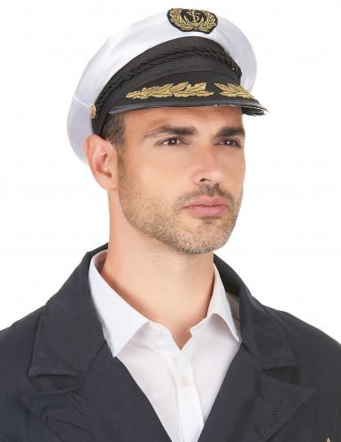 Chapeau de capitaine marin adulte-2