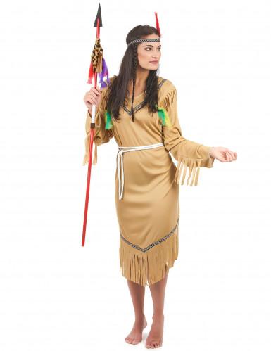 Déguisement indienne robe longue femme