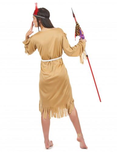 Déguisement indienne robe longue femme-2