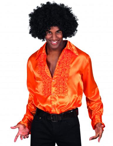 Chemise disco orange homme