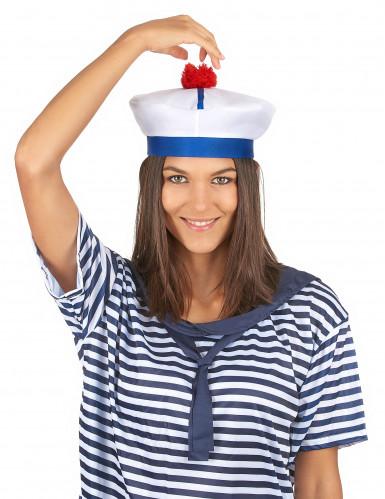 Chapeau de marin à pompon adulte-2