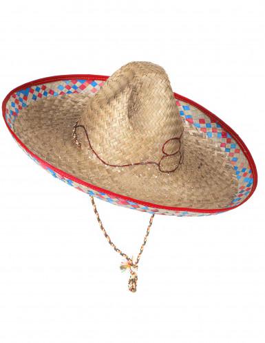 Sombrero mexicain en paille adulte-2