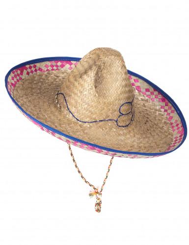 Sombrero mexicain en paille adulte-4