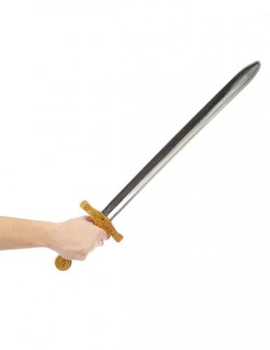 Epée chevalier médiéval enfant en plastique 65 cm-1